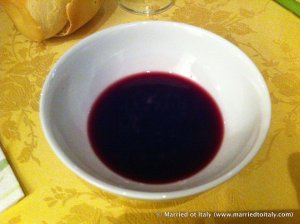 lambrusco in a bowl