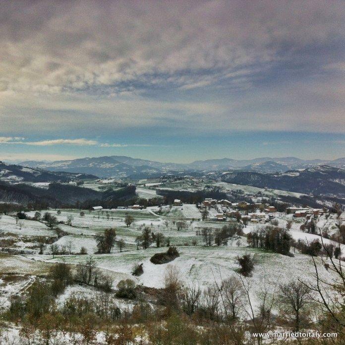 landscape near Canossa