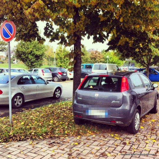 if you can't beat 'em, join 'em - check out my new parking skillz