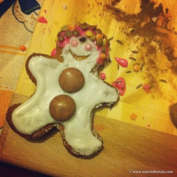 crazy gingerbread dude