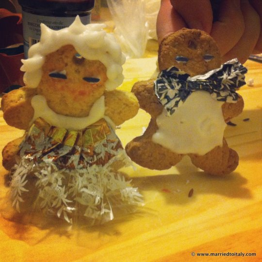 gingerbread fancy couple