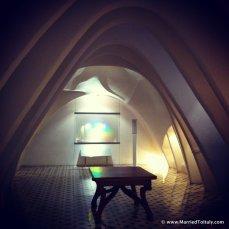 Casa Batllo' by Gaudi, attic