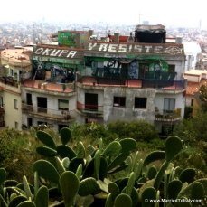 Catalan independence movement - view from top of Parc Guell