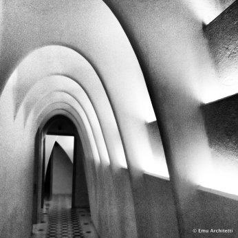 natural ventilation system in attic of Casa Batllo' house by Gaudi