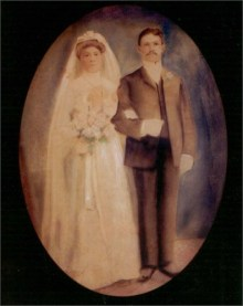 my great grandparents on their wedding day 1903