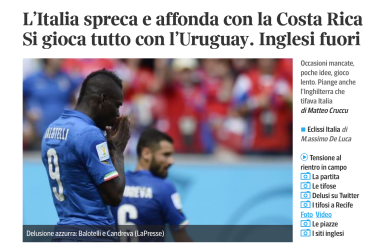 Corriere - italy world cup loss