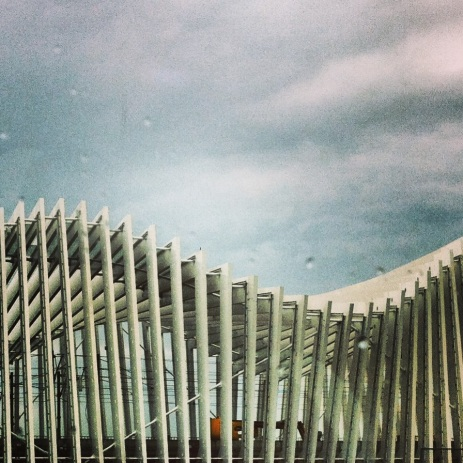 Calatrava AV Mediopadana station in Reggio