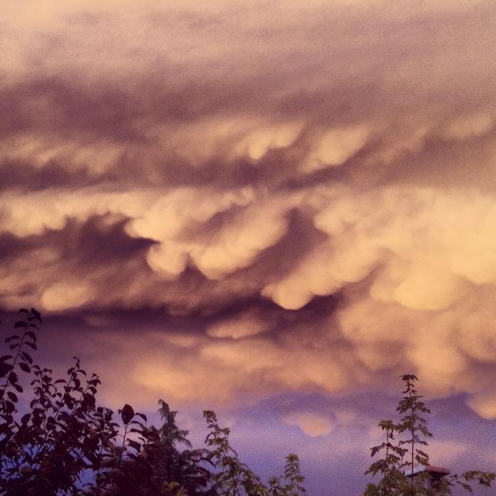 crazy clouds over Cavriago