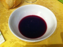 lambrusco served in bowl
