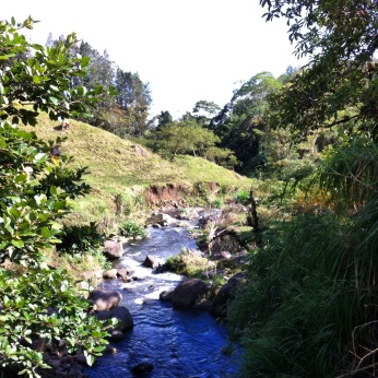 Quebrada la Loca - crazy river on the slopes of Turrialba Volcano